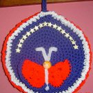 ROUND PATRIOTIC POTHOLDER/WALLHANGING