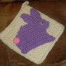 PURPLE BUNNY POTHOLDER