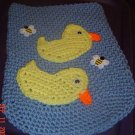 crochet DUCKY toilet set lid cover