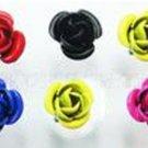 Vintage Black/Pink Rosebud/Rose Earrings 2pairs