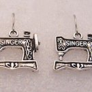 ♥Handmade Silver Singer Sewing Machine Earrings♥