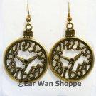 ♥ Handmade Brass Vintage Pocket Watch Clock Earrings♥