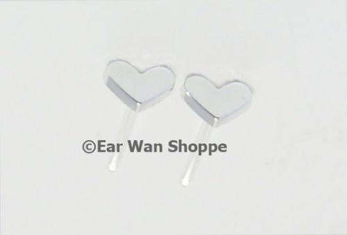Kitsch Korean Silver Heart Love Resin Stud Earrings