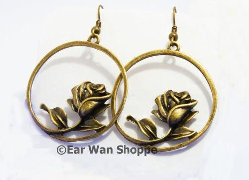 � Handmade Brass Grass/Leaf Retro Drop Earrings�