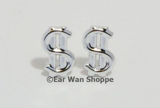 Kitsch Korean Silver Dollar Sign Hypo Stud Earrings