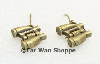 � Handmade Brass Binoculars Glasses Drop Earrings�
