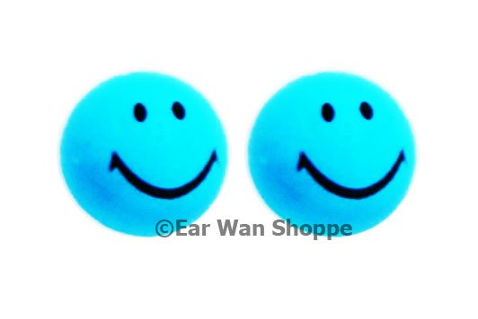 Smiley Face Multi Colour Resin Hypo Earrings 2 pairs