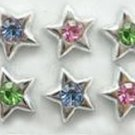Sparkling Silver Star Big Diamante Ear rings 2pairs