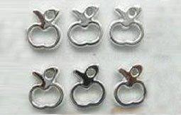 Silver Apple Fruit Resin Hypo Stud Earrings