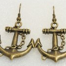 ♥Handmade Vintage Nautical Giant Anchor Drop Earrings♥