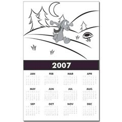 Jack Blue 2007 Yearly Calendar