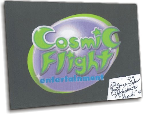 "Cosmic Flight Logo; Print; Autographed by Gage ""Shoichi"""