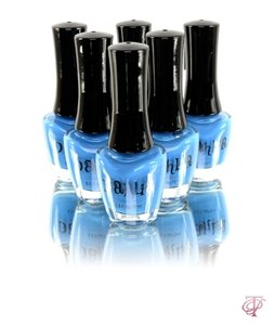 DAHLIA COSMETICS NAIL LACQUER POLISH IN NEON BLUE 0.5 FL. OZ BOTTLES