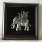 Royal Elephant nickel in wood frame
