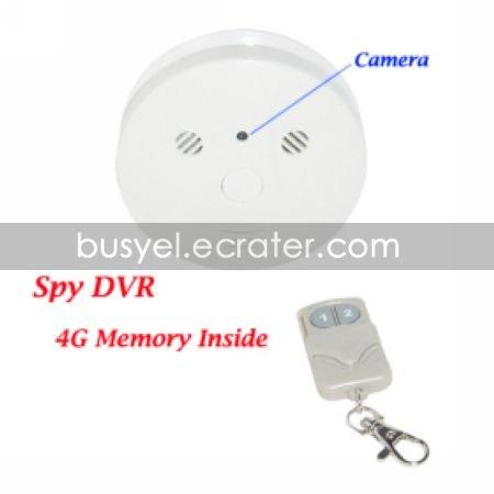 4GB Smoke Detector Style Spy DVR with Hidden Camera