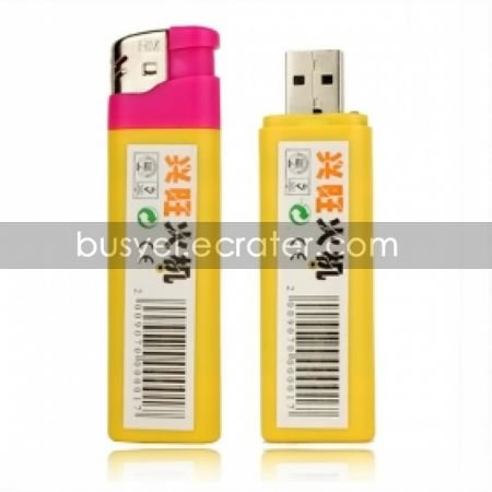 4GB Video Spy Lighters Camera Camcorder Yellow(ABC008)