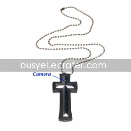 8GB Cross Necklace with Hidden Camera