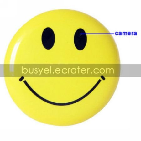 Brooch Smile Face Pin Mini Digital Video Recorder Voice RecorderHidden Camera (TRA616)