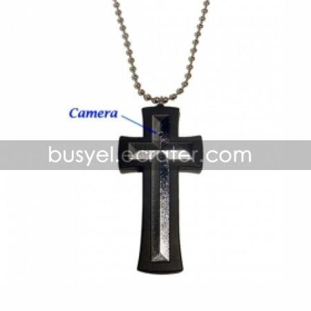 Cross Necklace with Hidden Camera + Digital Video Recorder (2GB)
