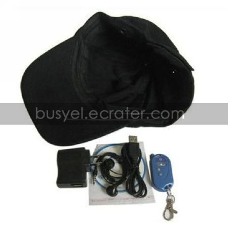 Hat DVR with Bluetooth + MP3 functions