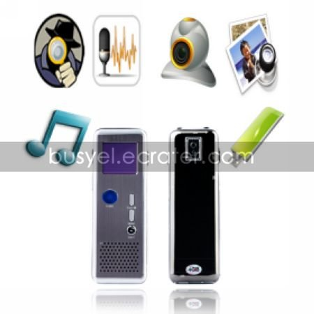 HD 640x480 Mobile Detection Sound Active Video Recording with MP3 Player FM Radio PC Camera Function
