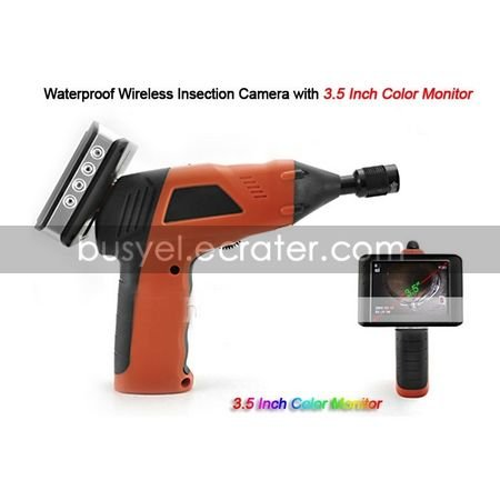 Waterproof Wireless Insection Camera with 3.5 Inch Color Monitor