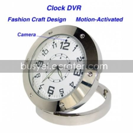 640480 Clock Style Digital Video Recorder DVR Motion-Activated Hidden Pinhole Color Camera (QW114)