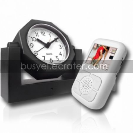 Clock Style Spy Camera with LCD Screen Receiver