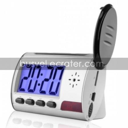 Digital Alarm Clock with Hidden Camera + Motion Sensor