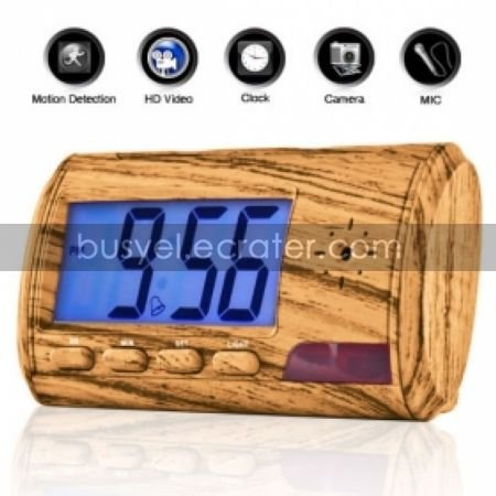 Digital Clock with Hidden HD Camera