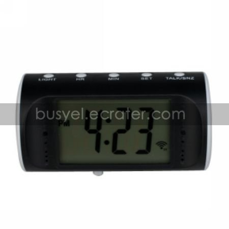 Mini Talking Clock Digital Video Recorder with Remote Control, Motion-Activated, Hidden Pinhole