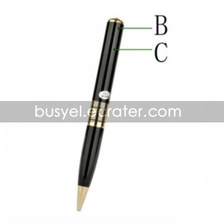 640x480 Video Spy Pen Camera Camcorder with TF Card Slot Black(ABC003)