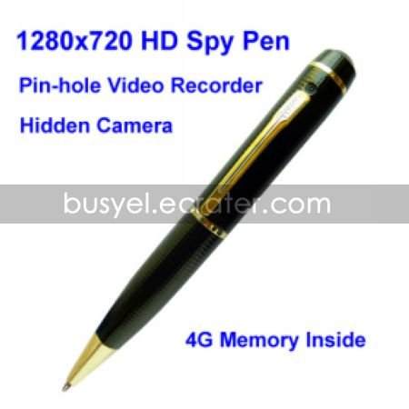 1280720 HD Spy Pen Digital Video Recorder with 4G Memory, Pin Hole Camera(QW102)