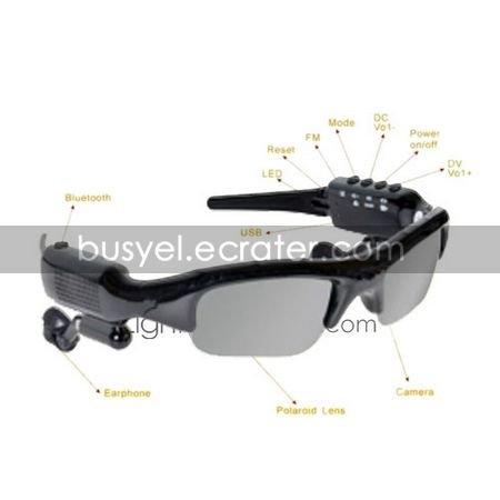 2GB Sunglasses Camera DVR Video Recorder FM Radio Bluetooth MP3 (DCE159)