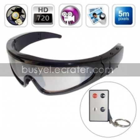 720P HD Spy Sport Glasses Digital Video Recorder with Remote Control, Hidden Pinhole Camera
