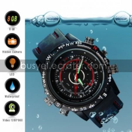 8GB High Definition Waterproof Spy Watch with Hidden Camera