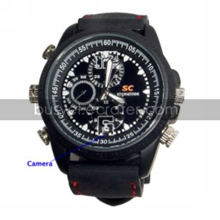 640x480 Waterproof Sport Watch Digital Video Recorder with Motion Activated Hidden Camera(QW157)