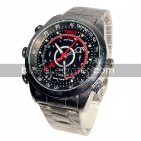 640x480 Waterproof Stainless Steel Sport Watch Digital Video Recorder with 4G Memory Hidden Camera