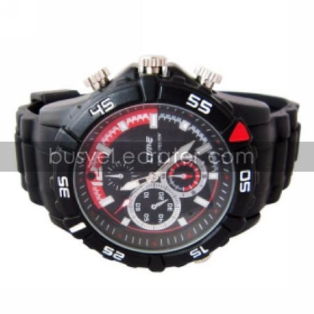 720P HD 4G Waterproof Spy Watch Camera DVR with Voice Recorder Rubberized StrapHidden Camera