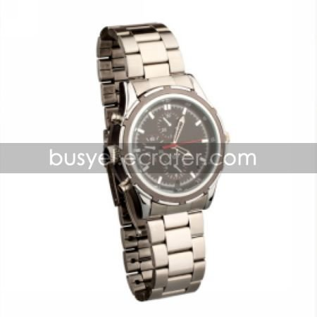 Businessman's Metal Wrist Watch Camera DVR Camcorder Supporting up to 16G TF Card