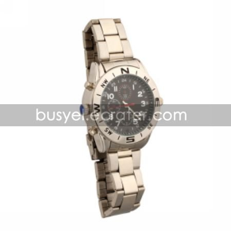 Businessman's Metal Wrist Watch Camera DVR Camcorder Supporting up to 16G TF Card (SZ05430106)