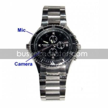 Fashionable Spy Watch with Hidden HD Camera + Motion Sensor