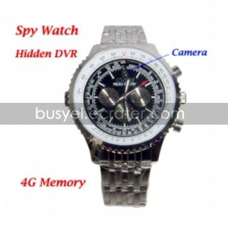 High Resolution 1280x960 Fashion Design Watch DVR with 4G Memory Hidden Camera (QW019)