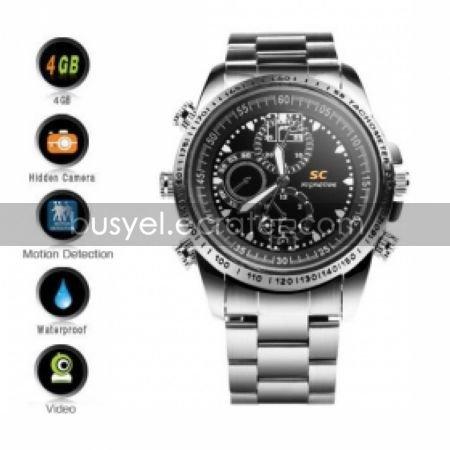 Secret Agent Wristwatch with Camera + Motion Detector