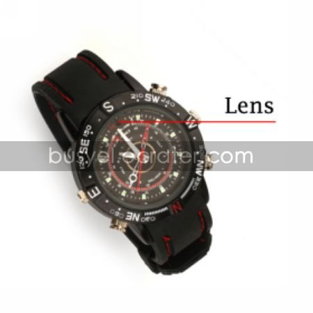 Sports Water Proof Wrist Watch Camera DVR Camcorder Supporting up to 16G TF Card (SZ05430102)