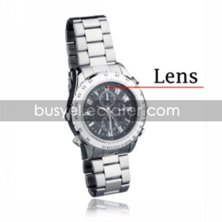Stainless Steel Water Resistant Wrist Watch Camera DVR Camcorder Supporting up to 16G TF Card