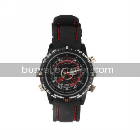 Waterproof Sports Watch with Hidden HD Camera + Sound Record