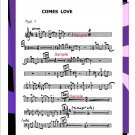 Big Band Arrangement muisc chart - Comes Love - PDF