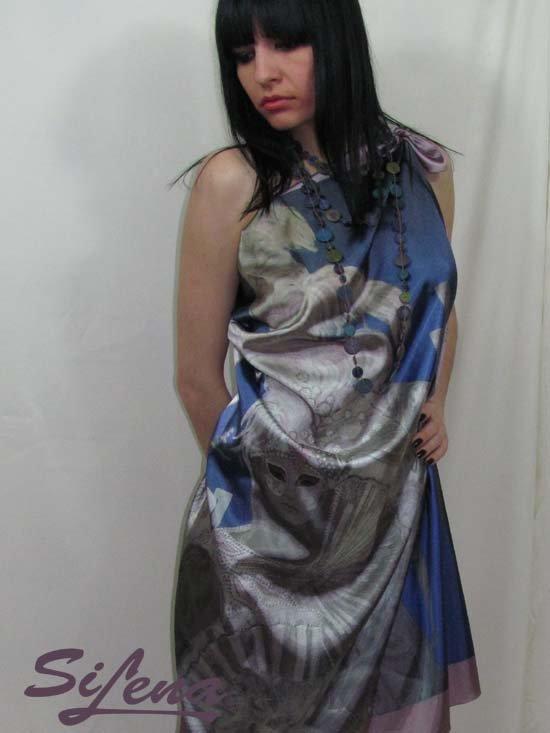 Scarf shawl original art print 120 x 90 cm SiLena FREE SHIPING WORLDWIDE