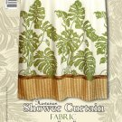Hawaiian Tropical Fabric Shower Curtain (Monstera)